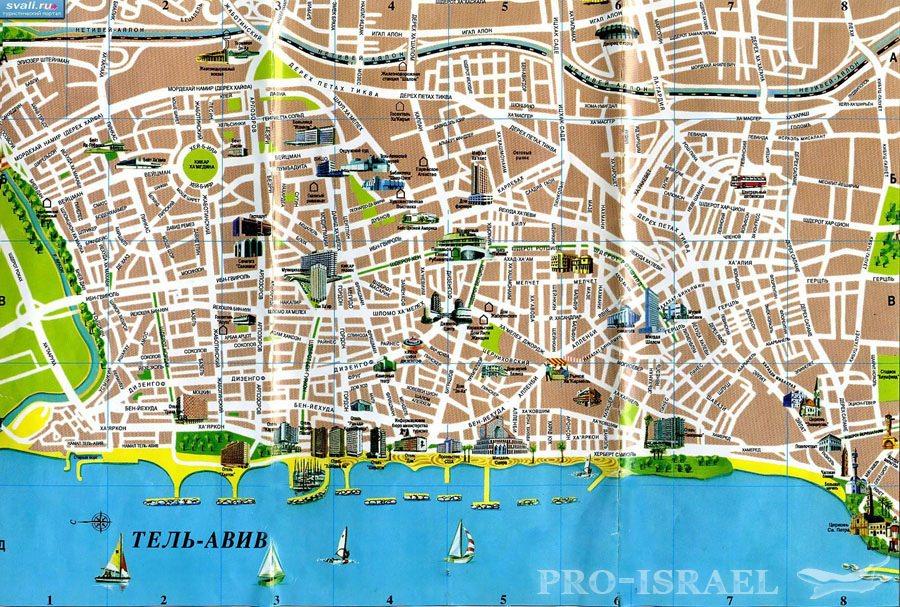 Карта города Тель-Авива,