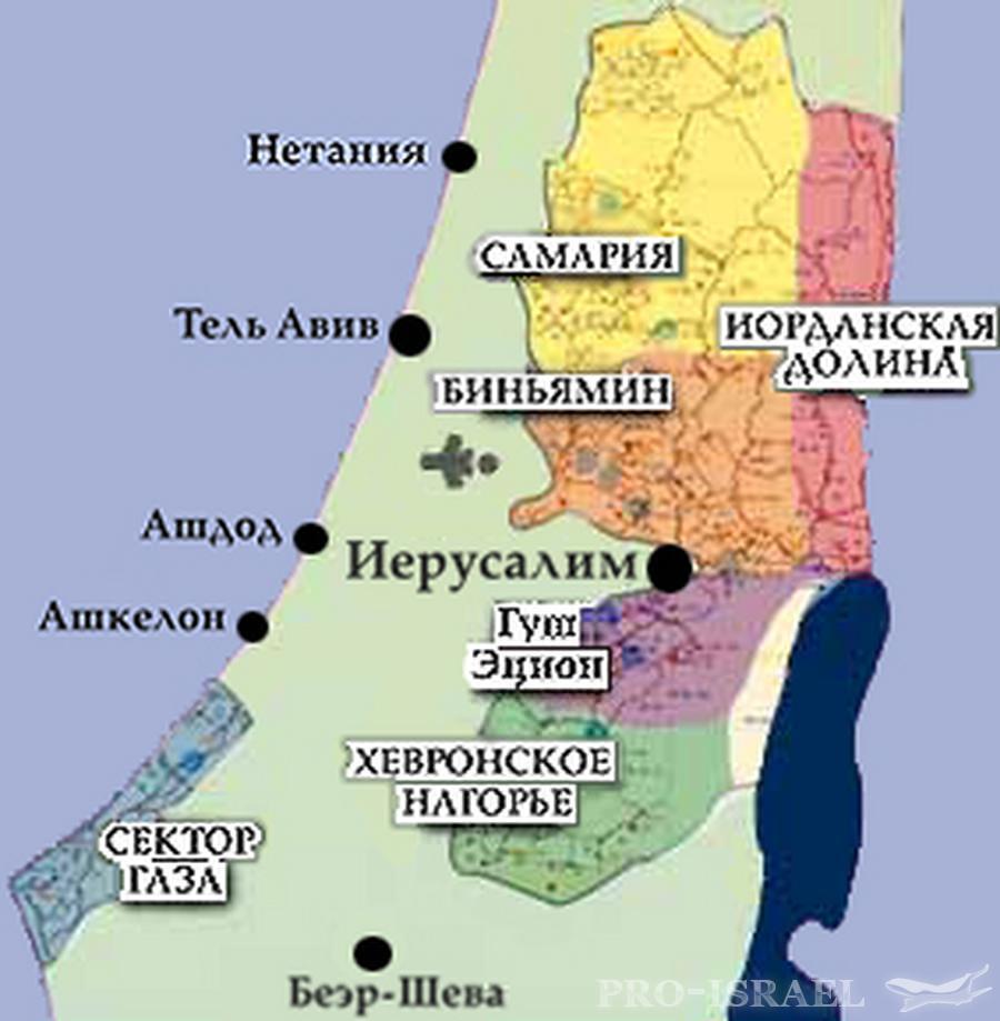 недвижимость в израиле на карте