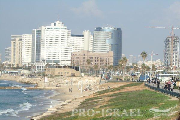Средиземноморское побережье, набережная Тель-Авива, Израиль