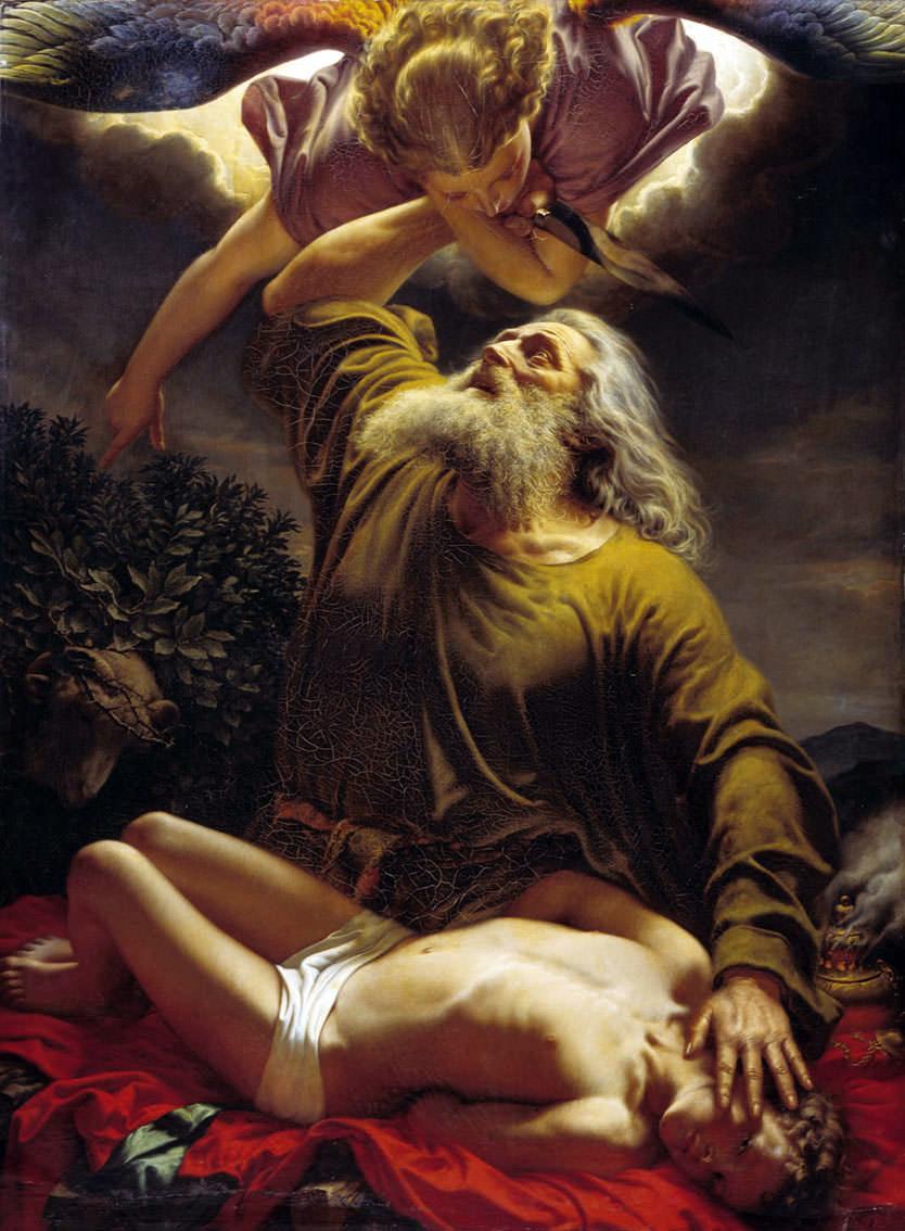 Авраам приносит Исаака в жертву (Евграф Рейтерн, 1849 г.)